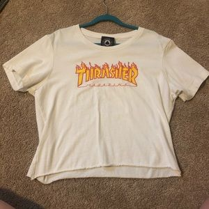 Thrasher Cropped Tee